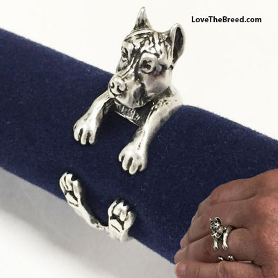 Pit Bull Wrap Around 3D Ring