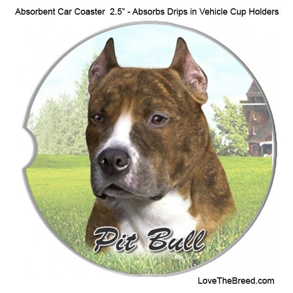 Pit Bull Absorbent Car Coaster