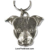 Pit Bull Pewter Key Chain