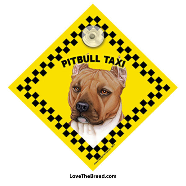 Pit Bull Taxi Car Sign