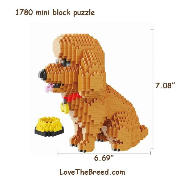 Poodle or Labradoodle mini blocks puzzle 1780 pieces