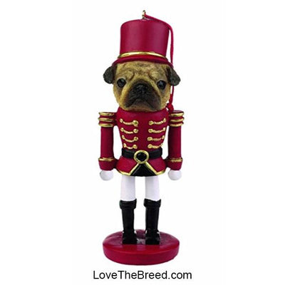 Pug Holiday Soldier Ornament