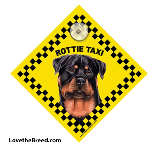Rottweiler Taxi Car Sign
