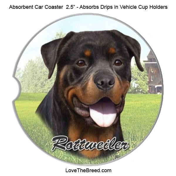 Rottweiler Absorbent Car Coaster