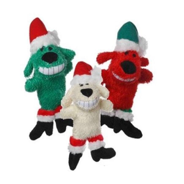 Mini Santa Loofa Santa 6 inch Dog Toy