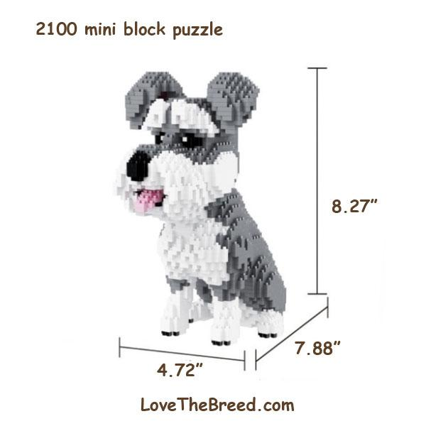 Schnauzer mini blocks puzzle 2100 pieces