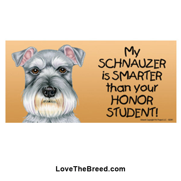 My Schnauzer is Smarter than Your Honor Student