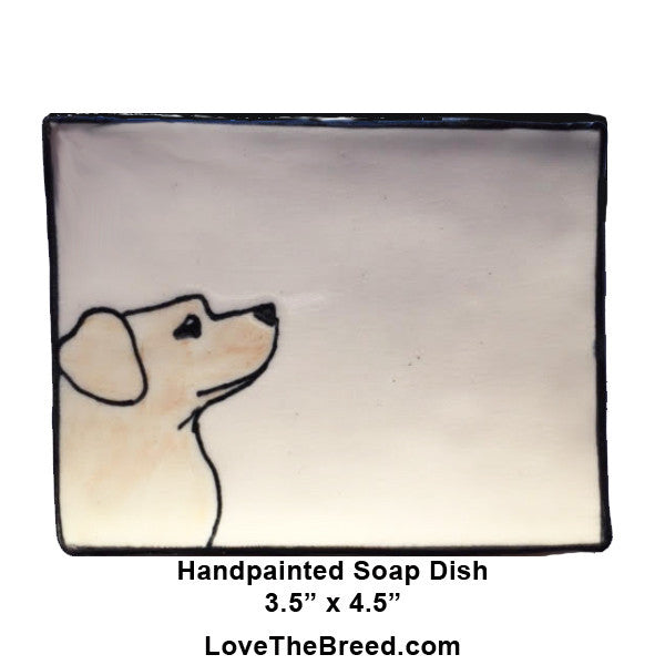 Yellow Labrador Dish for Soap, Spoon Rest, Jewelry