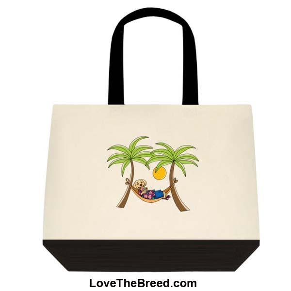 Yellow Labrador in Hammock Extra Large Tote