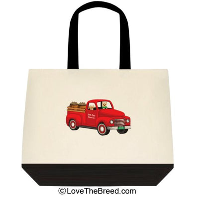 Yorkshire Terrier Biscuit Truck Extra Large Tote