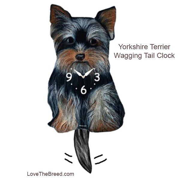 Yorkshire Terrier Wagging Tail Clock
