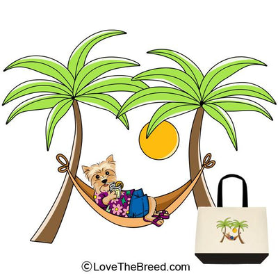 Yorkshire Terrier in Hammock Extra Large Tote