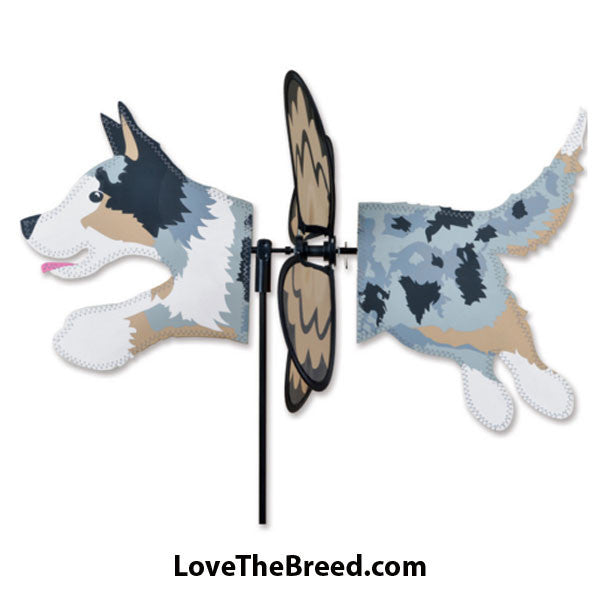 Australian Shepherd Dog Petite Wind Spinner