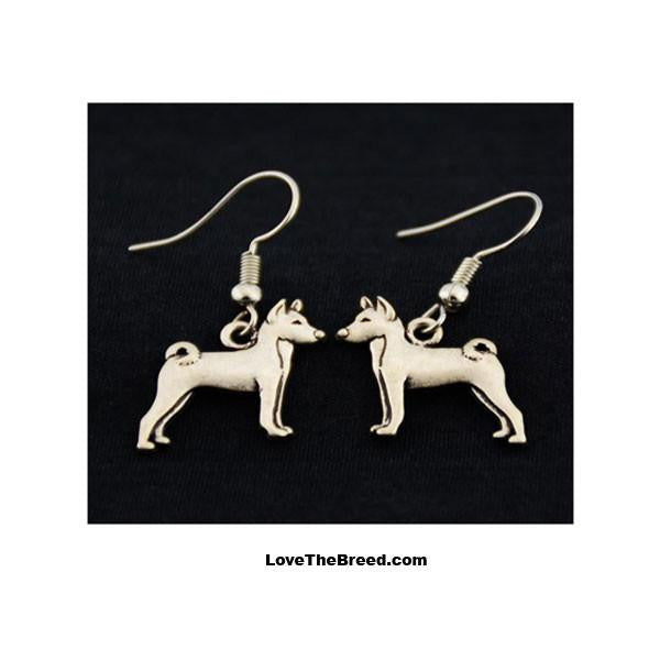 Basenji Charm Earrings