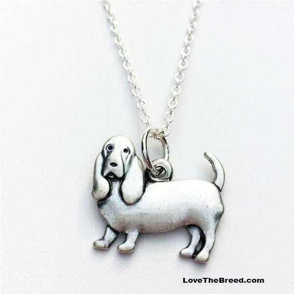 Basset Hound Charm Necklace