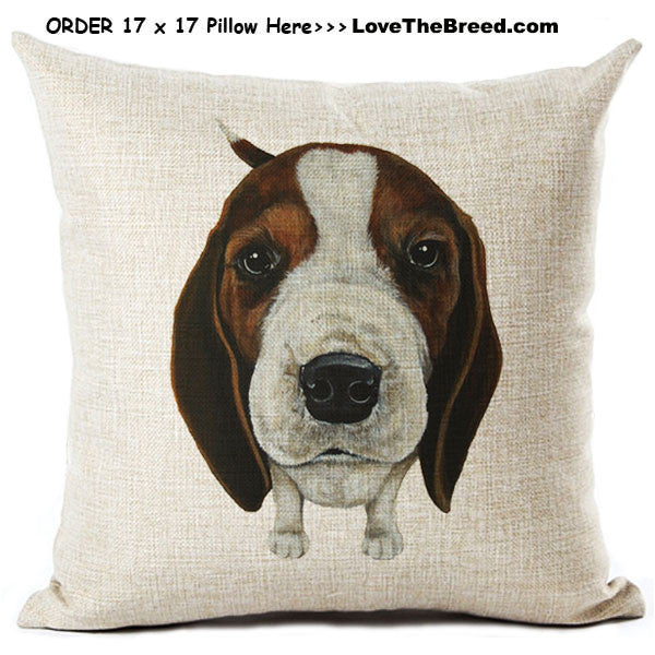 Beagle Linen Pillow