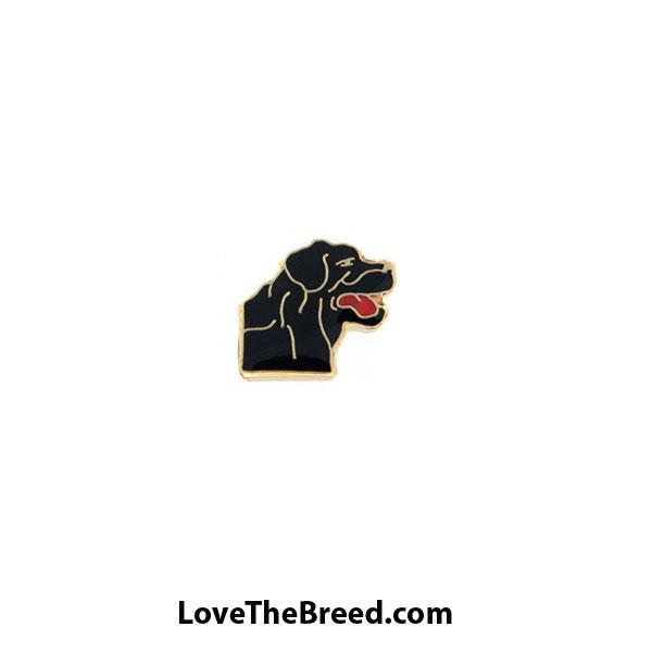 Black Labrador Face Floating Charm