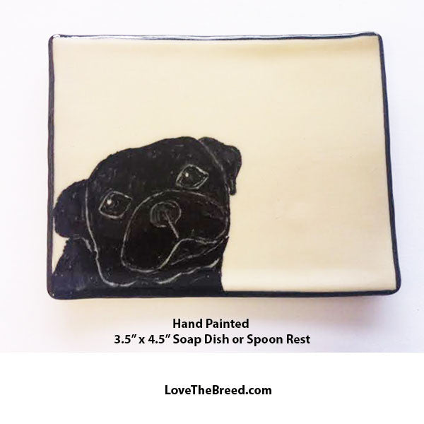 Pug Dish for Soap, Spoon Rest, Jewelry
