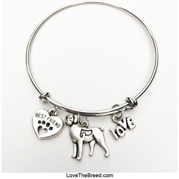 Brittany Spaniel Best Friend Love Charm Bracelet