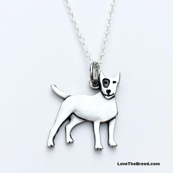Bull Terrier Charm Necklace