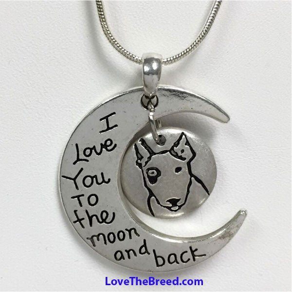 Bull Terrier Love to the Moon and Back Necklace