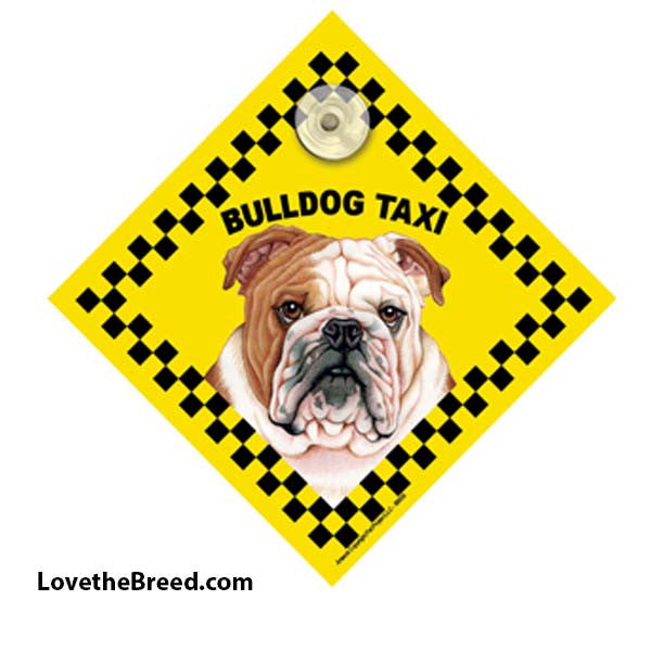 Bulldog Taxi Car Sign