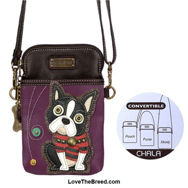 Boston Terrier Crossbody Cell Phone Purse Chala