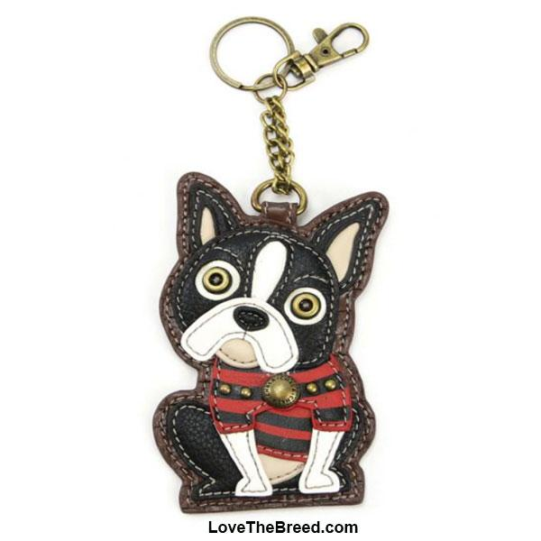 Boston Terrier Key Chain Coin Purse Charm Chala