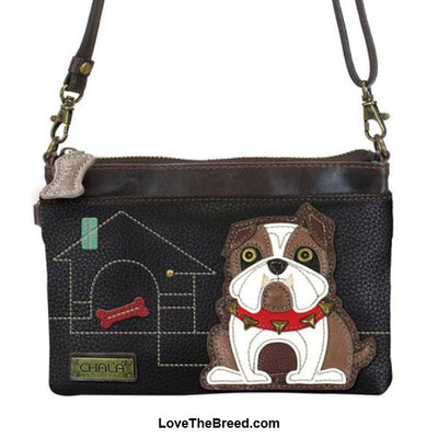 Bulldog Mini Crossbody or Clutch Purse Chala