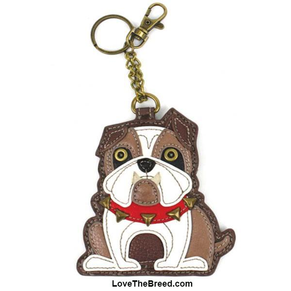 Bulldog Key Chain Purse Charm Chala
