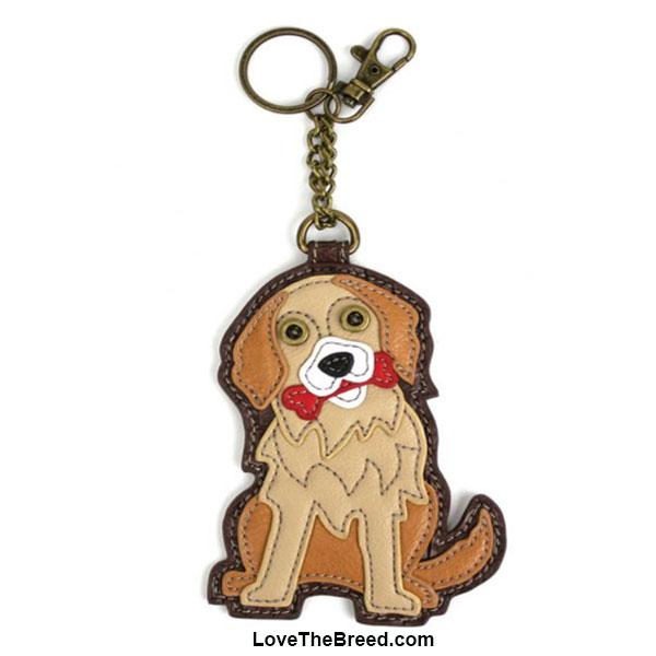 Golden Retriever Key Chain Purse Charm Chala