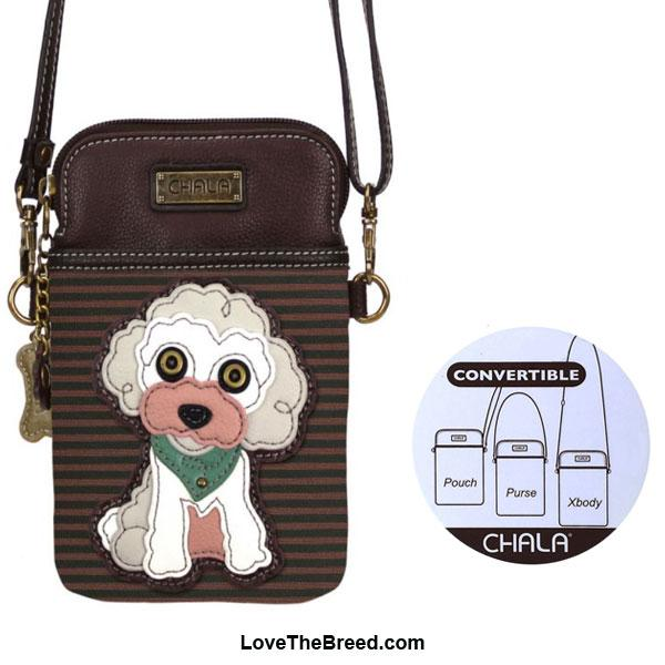 Poodle Crossbody Cell Phone Purse Chala