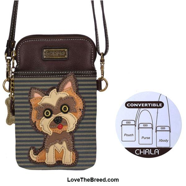 Yorkshire Terrier Crossbody Cell Phone Purse Chala