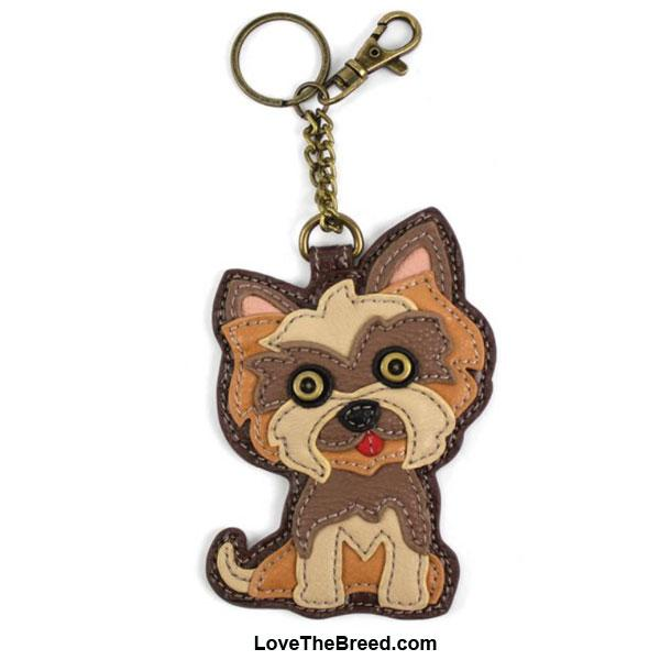 Yorkshire Terrier Key Chain Purse Charm Chala