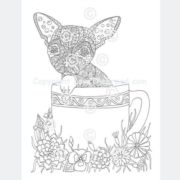Chihuahua Coloring Book for Adults and Children Volume 1 LoveTheBreed