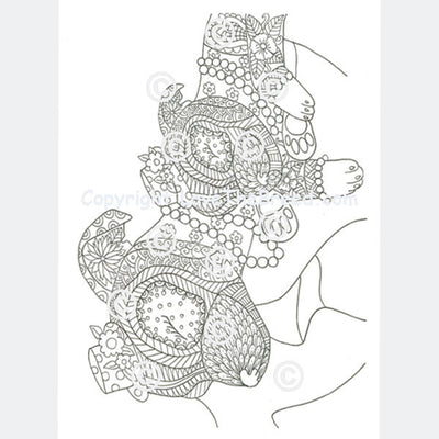 Chihuahua Coloring Book for Adults and Children - Volume 1