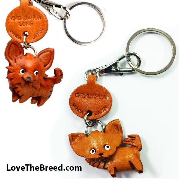 Chihuahua Leather Key Chain Handmade