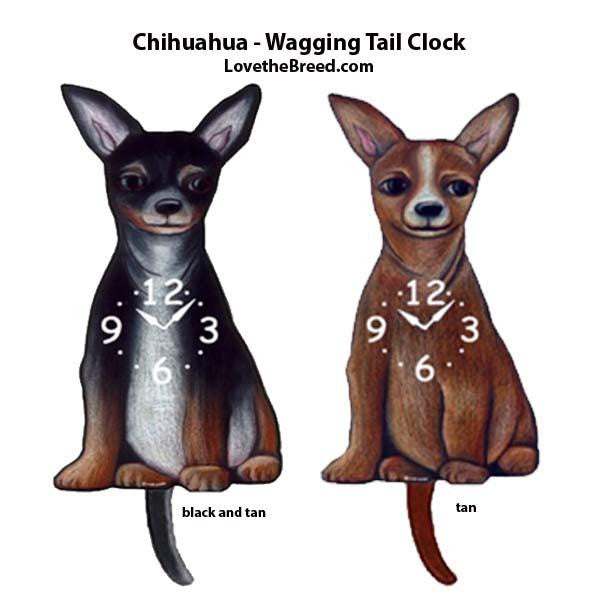 Chihuahua Wagging Tail Clock