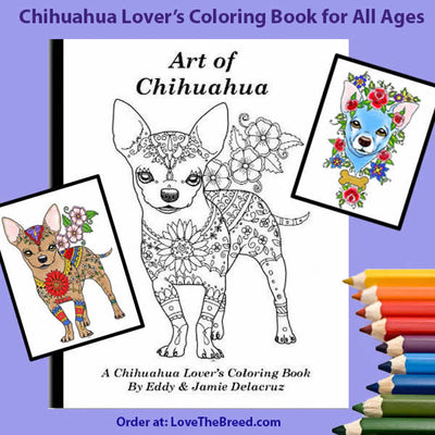 Chihuahua Coloring Book buy at LoveTheBreed.com