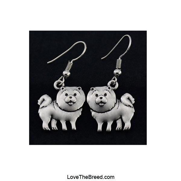 Chow Chow Charm Earrings