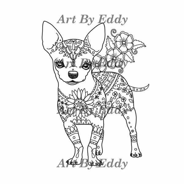 Chihuahua Coloring Book for All Ages LoveTheBreed