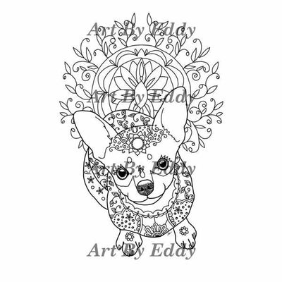 Chihuahua Coloring Book for All Ages