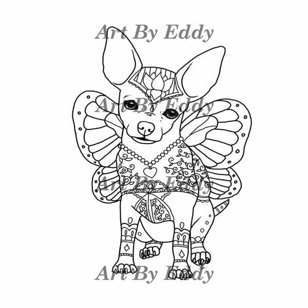 chihuahua coloring book for all ages - Ap Coloring Book