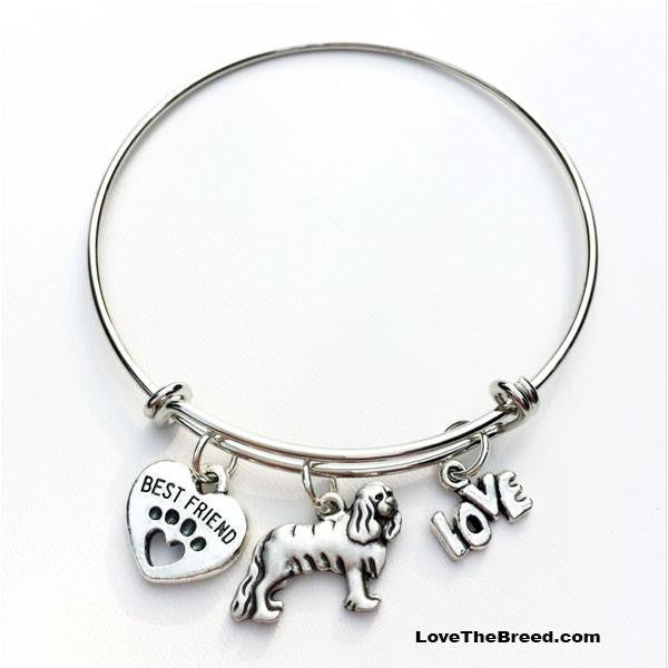 Cocker Spaniel Best Friend Love Charm Bracelet
