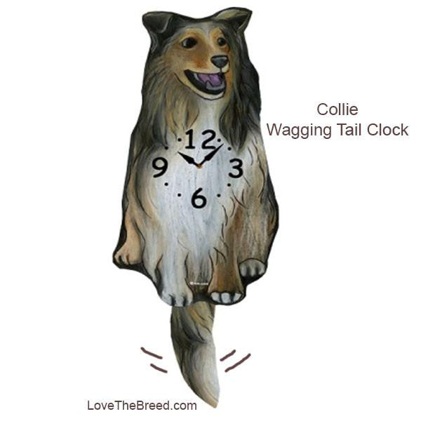 Collie Wagging Tail Clock