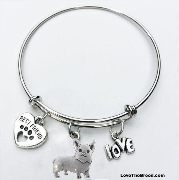 Corgi Best Friend Love Charm Bracelet