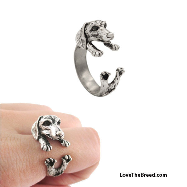 Dachshund Wrap Around 3D Ring