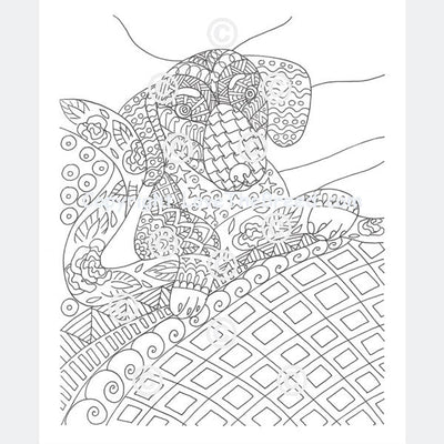 Dachshund Coloring Book for Adults and Children - Volume 2