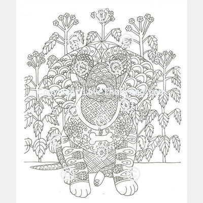 Digital Download Dachshund Coloring Book for Adults and Children - Volume 2