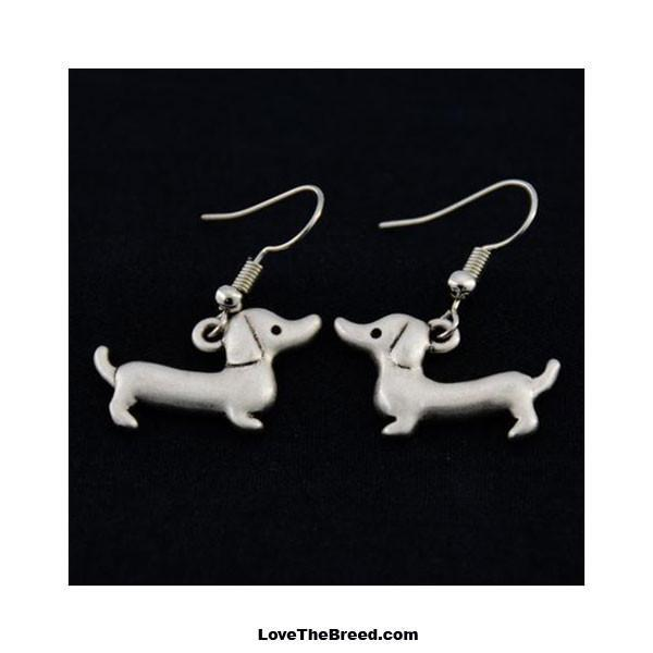 Dachshund Charm Earrings